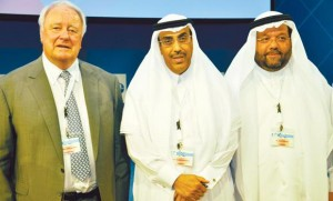Members of the Congress Board Horst Wolfgang Haase, Abdullah Al Shammery, and Esam Tashkandi at the event.